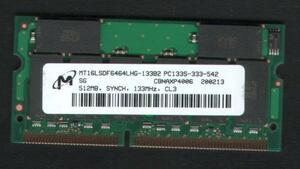Note for memory 512MB PC133 144Pin[DELL,Epson, Fujitsu FMV,HP/COMPAQ, Mitsubishi,NEC LaVie VersaPro] prompt decision used affinity guarantee