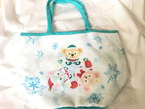 【貴重】ダッフィーシェリーメイジェラトーニ クリスマスミニトートバッグ