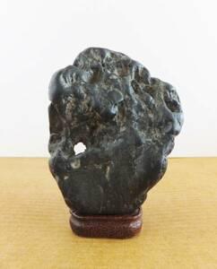 水石鑑賞石  ★ 錦洞 ★抜けや石肌など魅力的な形状。箱有り。古そうです。