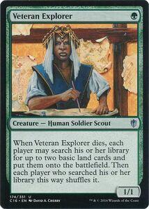 え緑 老練の探険者 1枚(4枚在庫s 英 良品 C16)/Veteran Explorer(MTG /統率者2016/統率者(2016年版)/Commander 2016/)