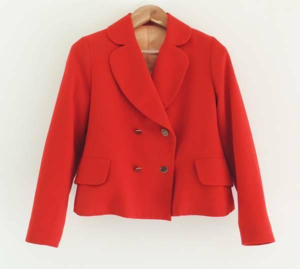 VIVIENNE WESTWOOD 1987-88 レッドバラシア プリンセス ジャケット オーブ ボタン ハート ラブ 赤 レッド ツイード ビンテージ 希少