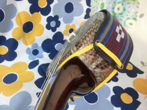 (送料無料) 59.980円 紫檀沖縄三線蛇皮強化張とふかふか二丁入れハードケースセット