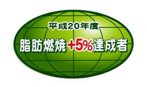 2枚セット パロディステッカー 脂肪燃焼+5%達成者【3347】