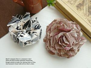上品 コサージュ セット 髪飾り 花柄 日本製 レディース 茶 黒 アクセサリー C