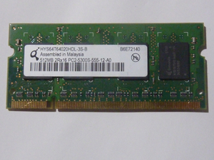 PC2-5300S 512MB HYS64020HDL-3S-B