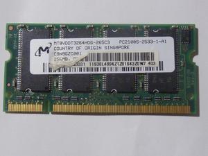 MT8VDDT32644HG-265C3 PC2100S 256MB