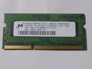 MT8JSF12864HY-1G1D1 PC3-8500S DDR3 1066 CL7