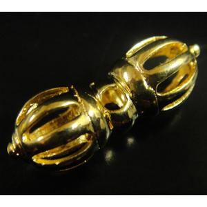 豆法具◆九鈷杵-ドルジェ(ゴールド)◆チベット密教