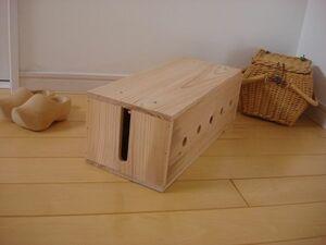 * заказ возможно * натуральный ящик для кабелей ③/ натуральное дерево * из дерева код держатель место хранения