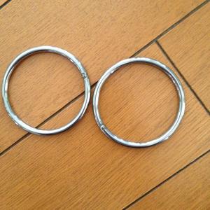 ベビースリング用★ステンレス製丸リング4×50mm★6個まとめて