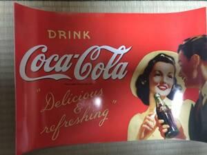 超貴重! 非売品 コカ・コーラ 純正 レトロ 広告ポスター RED couple / アメリカンレトロ ミッドセンチュリー 50s