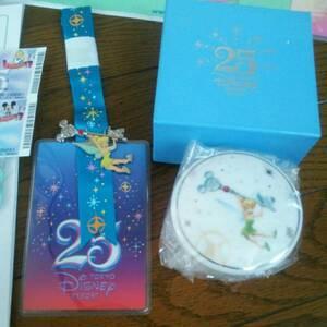 東京ディズニーランド TDL 25周年 アニバーサリースペシャルナイト 記念品 ティンカーベル ピンバッジ 食器 小物入れ ノベルティ 非売品
