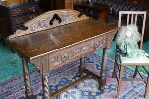 イギリスアンティーク家具 デスク テーブル アンティークデスク コンソールテーブル 英国製 G18