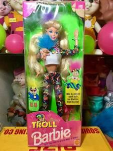 1990's トロール バービー 人形 箱入り Troll Barbie マテル MATTEL カラフル アメキャラ