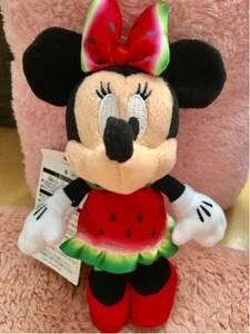 ディズニー夏祭り2017☆スイカ ミニーぬいぐるみバッジ★フル!フル!フルーツ!ぬいば★ディズニーランド ディズニーシー TDS TDL TDR