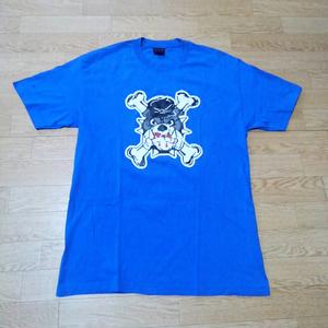 メール便可能! 名作! DEADLINE (デッドライン) ブルドッグ Tシャツ (L) | skate スケーター Lafayette ラファイエット 正規品 犬
