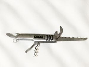 未使用品 ステンレス マルチツール goggle ゴーグル ツーリング サバイバル ツール