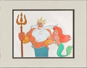 ディズニー リトルマーメイド アリエル トリトン 原画 セル画 限定 レア Disney 入手困難