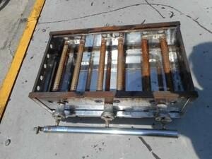 A2596 天然ガス用 鉄板焼き器 6本 ガス 幅58cm奥34cm(48cm)高さ21cm