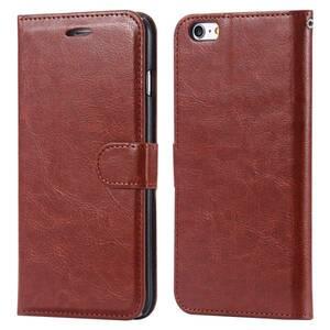 iPhone7Plus 手帳型レザーケース+強化保護フィルム付き★収納 オシャレ スマホカバー 携帯ケース 茶色 ブラウン 2