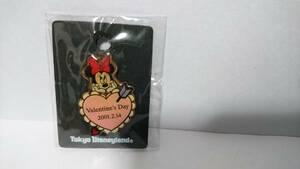 【ディズニーピン】TDL 東京ディズニーランド 2001年 バレンタイン ピン ミニー柄 未開封 送料込み