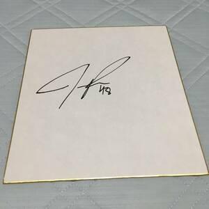 値下げ!阪神タイガース ロジャース選手直筆サイン色紙
