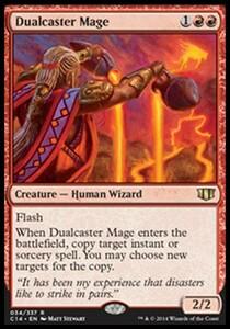 え赤 二重詠唱の魔道士 1枚(4枚在庫s 英 良品 C14)/Dualcaster Mage(MTG /統率者2014/統率者(2014年版)/Commander 2014/)