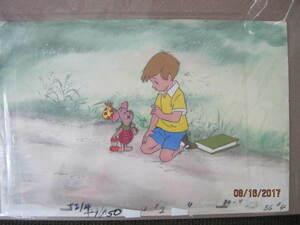 ディズニー クマのプーさん クリスファーロビン ピグレット 原画 セル画 限定 レア Disney 入手困難