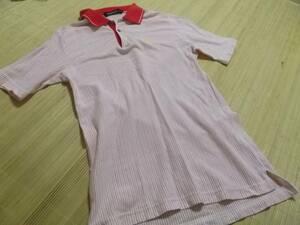 le coq sportif GOLF赤ストライプのルコックスポルティフ ゴルフポロシャツ