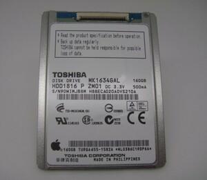 【送料無料】新品 東芝 1.8インチ 5mm zif lif HDD 160GB MK1634GAL ipod classic や macbook air の修理などに