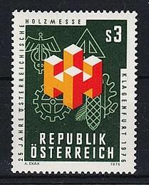 オーストリア 1976年未使用NH 木材/展示会#1517