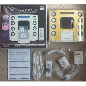 【新品未使用ジャンク品】★プリンストン iPod・2way電源!ワイヤレスリモコン付きスピーカー!SoundWall PSP-MSSSW2W(ホワイト)★