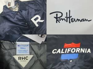 ロンハーマン RHC 激レアコラボ! Champion Caoch Jacket 新品未使用!チャンピオン Ron Herman Sサイズ navy