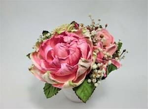 クラシックフラワー 造花 天然素材 ハンドメイド ピンク 【CLASSIC FLOWER】