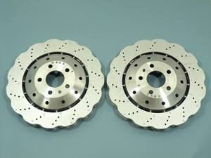 Audi genuine products RS4 RS5 R8 front brake disk wave rotor 8T0615301 front 2 pieces set