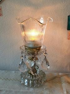 作品 シャンデリア 型 昭和 レトロ アンティーク ヴィンテージ クリスタル ランプ 照明 シェード ガラス 河合徹作