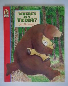 幼児用絵本・洋書英語版・WHERE`S MY TEDDY?・JEZ ALBOROUGH・送料無料