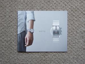 【カタログのみ】SONY wena スマートウォッチ 検 WN WC Chronograph Three Hands Square