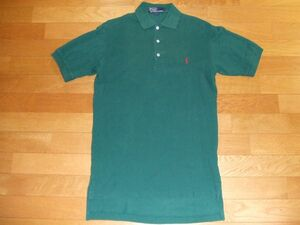 Polo by Ralph Lauren ポロシャツ SIZE:S 緑色落ち 送料340円~