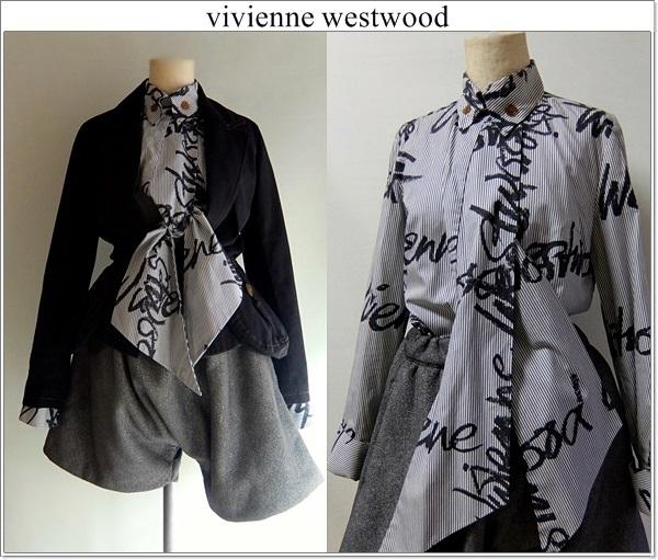 ■vivienne westwood ヴィヴィアンウエストウッド■ イタリア製 ■ 変形ブラウス■