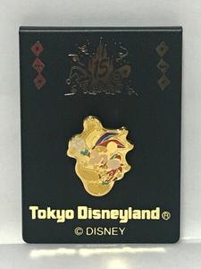 東京ディズニーランド 15周年記念ピンバッジ ミッキーマウス ゴールド
