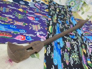 (送料無料)19.980円 沖縄三線専用未塗装紫檀棹と紅型袋各一のセットです。 自作派の方へ
