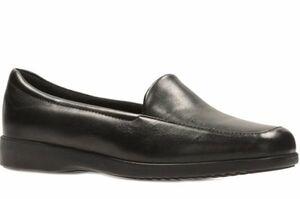 Clarks クラークス 28cm シンプル ローファー レザー 革 ブラック 黒 ショール フラット バレエ ヒール スニーカー パンプス ブーツ 823