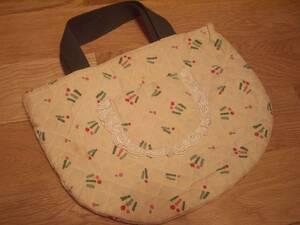 906 中古品 古品 キッズ 女の子用 ハンドメイド風 ハンドバッグ