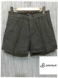 ★JOHNBULL ジョンブル レディースショーツ 新品 SS チャコール 定価13000円