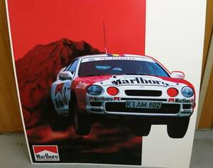 *  Не для продажи    Marlboro TOYOTA CELICA ST205/ Marlboro  Celica ST205  ультра  большой  форма  плакат  панель  *