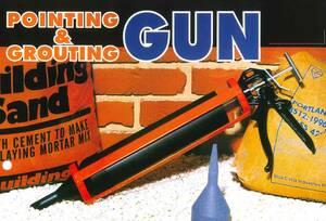 【目地つま~る G800】 つまーる G-800 メジガン 塗目地ができない時に 一本目地込み レンガのメジや床タイルの目地詰め モルタル充填