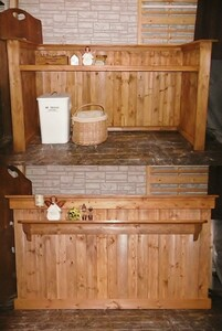 【Kー116】キッチンカウンター*H98・W170・D53cm*店舗受付レジカウンター*荷物置棚付*ハンドメイド*オーダー家具