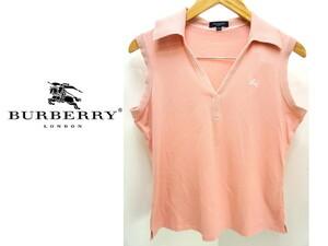 ●バーバリー ロンドン BURBERRY ピンク ノースリーブ シャツ 2●FE