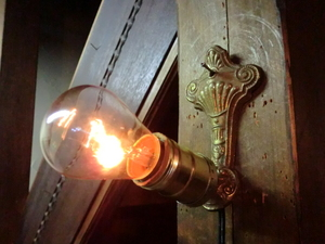 米国1900sアンティーク真鍮ゴシックランプ I 壁掛けカフェ照明ヴィンテージウォールブラケット店舗 リノベーションゴスロリ骨董ライトレア